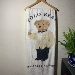 Polo Bear Ralph Lauren Vintage Cotton Towel Sheet